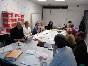 El equipo de trabajo GizaKude en sesión de trabajo del 19/12/2019