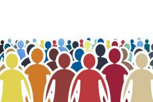 Dibujo de perfiles de personas en colores
