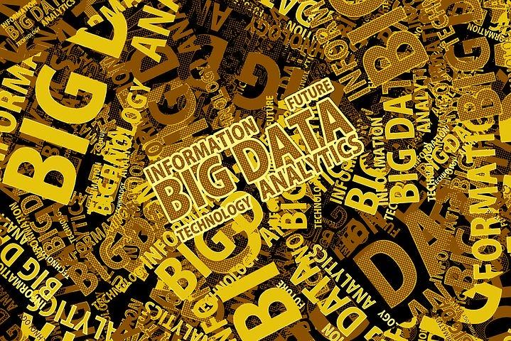 """Imagen en la que aparece """"Big Data"""" escrito en diferentes tamaños y superpuestos."""