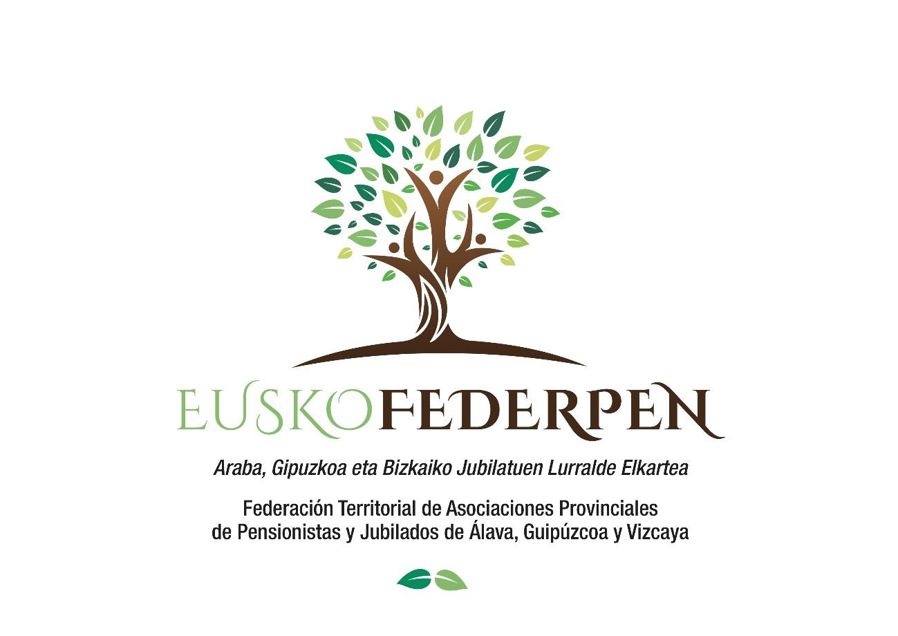 Logo EuskoFederpen, árbol con hojas en diferentes matices de verde.