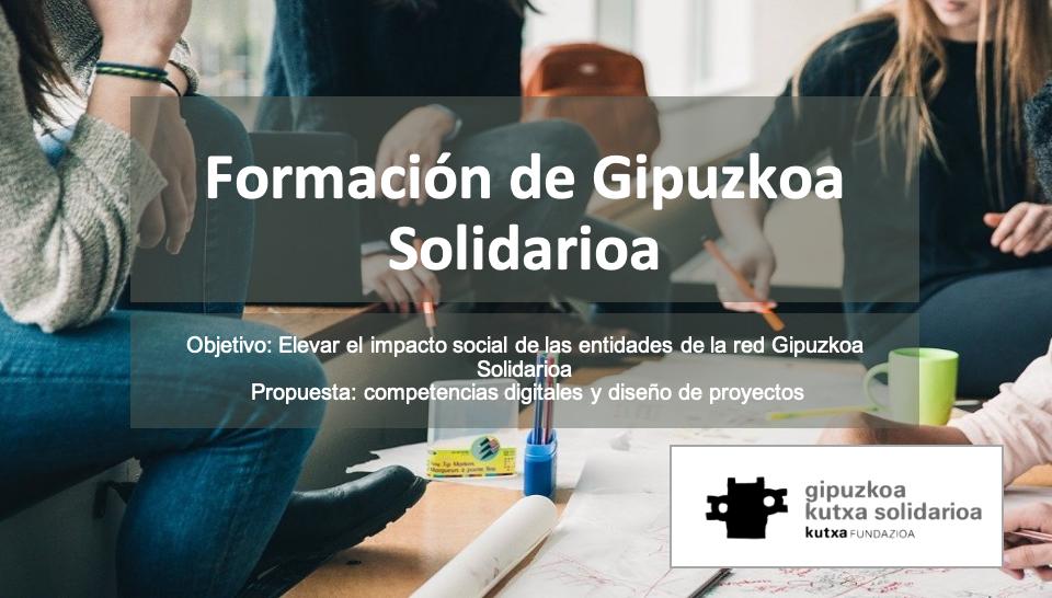 Diapositiva de la formación de Gipuzkoa Kutxa Solidarioa