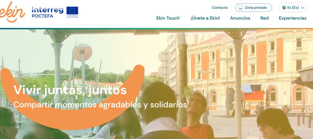 Pantallazo de la Web Ekin.social