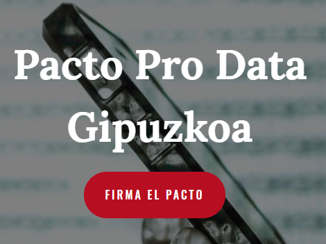 Imagen del Pacto Prodata Gipuzkoa